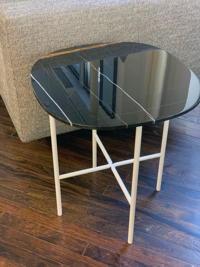 Modern Tacchini Black Marble Soap Side Table For Sale