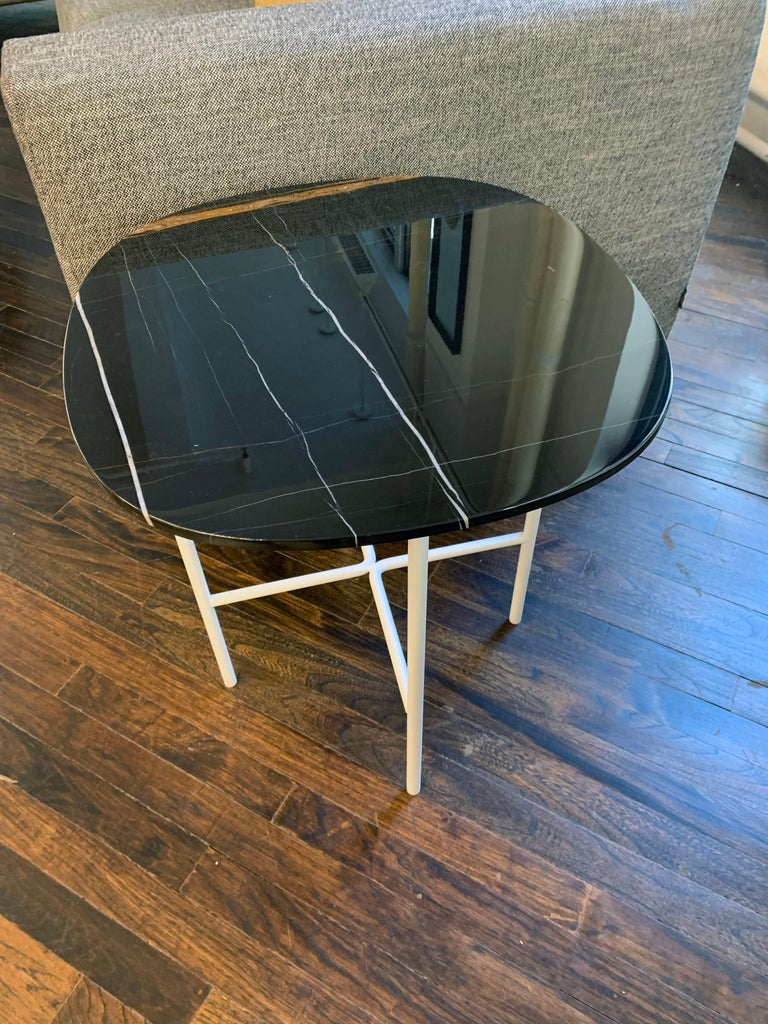 Tacchini Black Marble Soap Side Table For Sale 1