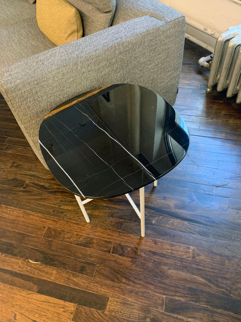 Tacchini Black Marble Soap Side Table For Sale 2