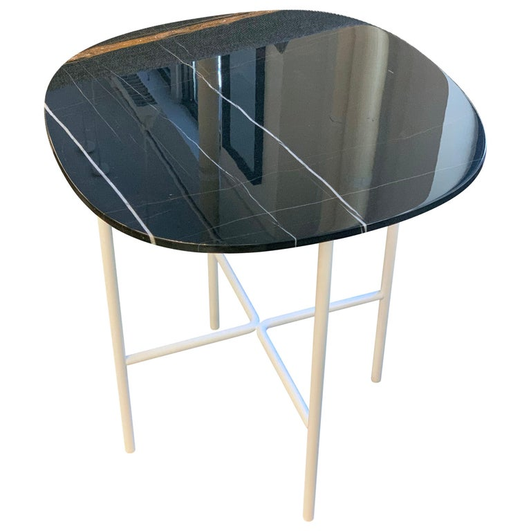 Tacchini Black Marble Soap Side Table For Sale