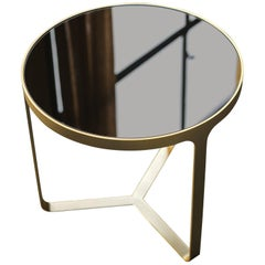 Tacchini Cage Small Round High Table in Bronze Mirror Top by Gordon Guillaumier