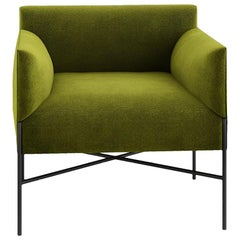 Tacchini Chill-Out Armchair in Green Dicondra Fabric by Gordon Guillaumier