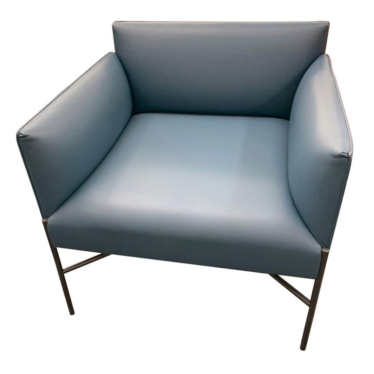 Tacchini Chill Out Blue Armchair by Gordon Guillaumier For Sale