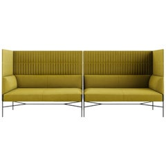 Tacchini Chill-Out Quiltd High Modular Sofa-End in Green by Gordon Guillaumier
