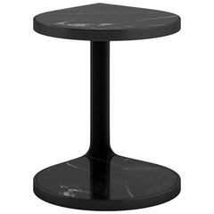 Tacchini Coot Table in Black Marquinia Marble & Black Base by Gordon Guillaumier