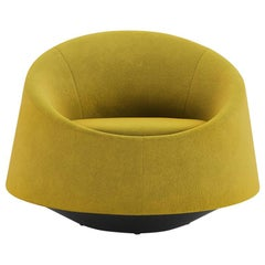 Tacchini Crystal Armchair with Swivel Base in Bryony Fabric by PearsonLloyd