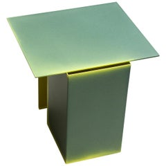 Tacchini Daze Low Table in Green Sage with Yellow Shade by Truly Truly