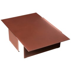 Tacchini Daze Low Table in Rust with Pink Shade by Truly Truly