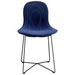 Tacchini Doodle High Chair in Blue Delphinum Fabric by Claesson Koivisto Rune