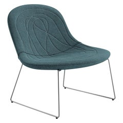 Tacchini Doodle Lounge Chair in Blue Green Fabric by Claesson Koivisto Rune