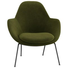 Tacchini Dot Armchair in Olive Green Calantha Fabric Base by Patrick Norguet