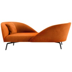 Tacchini Face to Face Sofa with Cushion in Calantha Fabric by Gordon Guillaumier