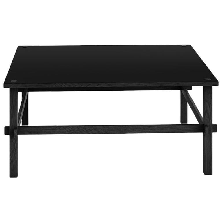 Tacchini Gio Low Table in Black Laminate Top & Grey Wood by Gianfranco Frattini