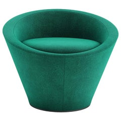 Tacchini Girola Armchair in Emerald Green Bopha Fabric by Lievore Altherr Molina