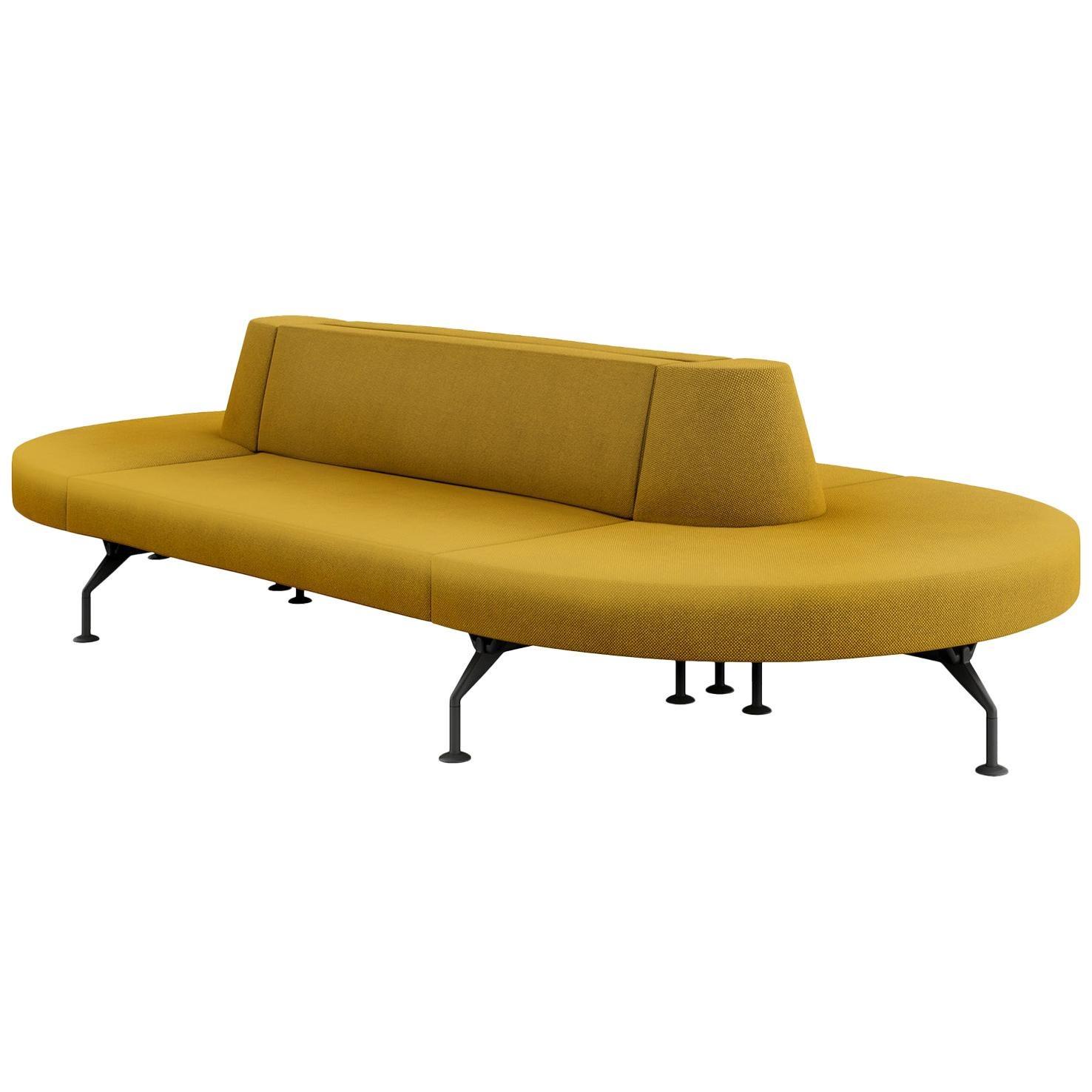 Tacchini Intercity Modular Sofa System in Yellow Fabric by Pietro Arosio