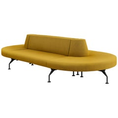 Tacchini Intercity Modular Sofa System in Yellow Fabric by Pietro Arosio