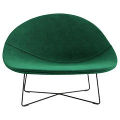 Tacchini Isola Armchair in Green Delphinum Fabric by Claesson Koivisto Rune
