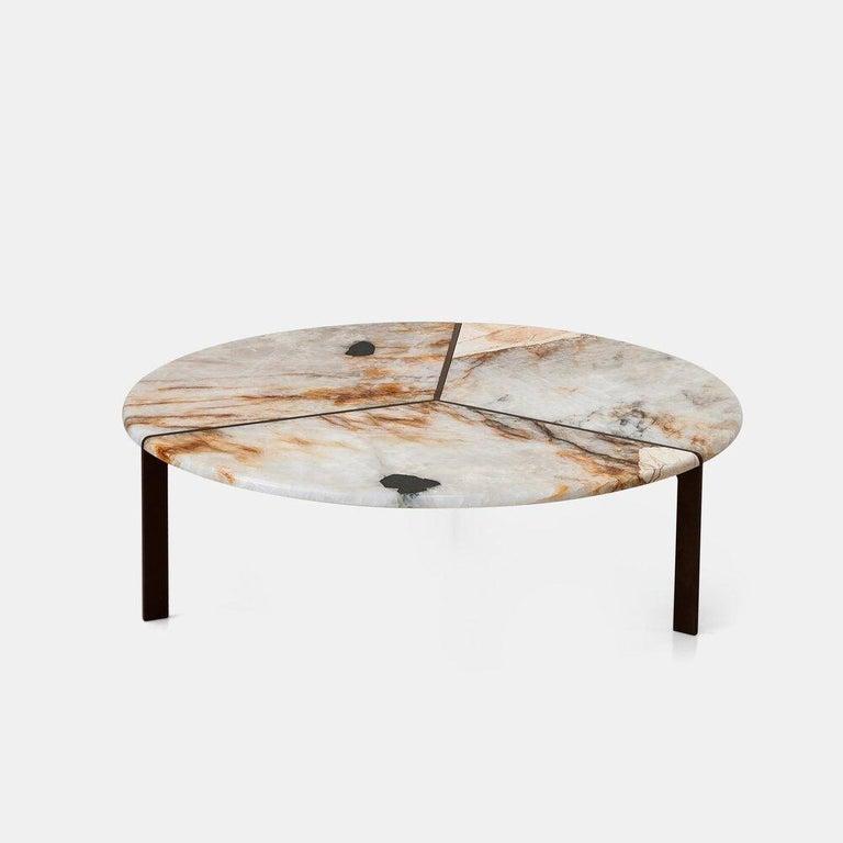 Italian Tacchini Joaquim Marble Side Table Designed by Giorgio Bonaguro For Sale