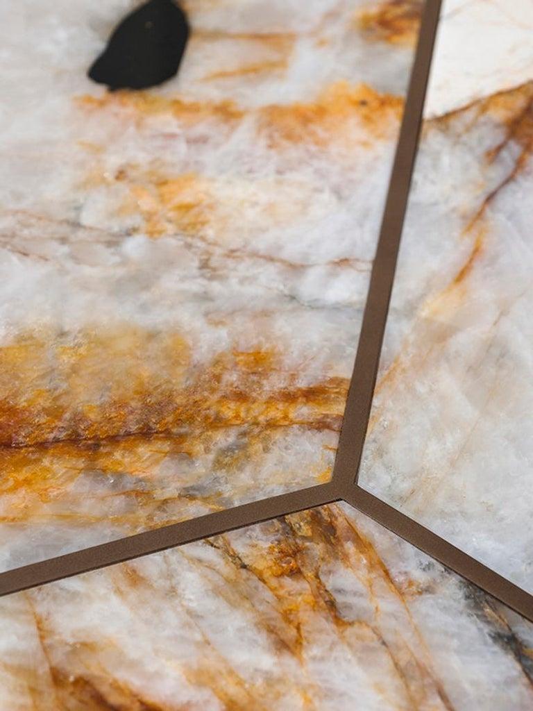 Tacchini Joaquim Marble Side Table Designed by Giorgio Bonaguro In New Condition For Sale In New York, NY