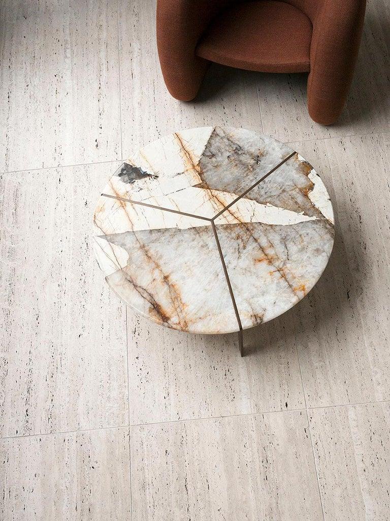 Tacchini Joaquim Marble Side Table Designed by Giorgio Bonaguro For Sale 1