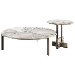Tacchini Joaquim Small Coffee Table in Patagonia Marble Top by Giorgio Bonaguro