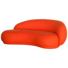 Tacchini Julep Chaise Longue Sofa in Red Thuya Fabric by Jonas Wagell