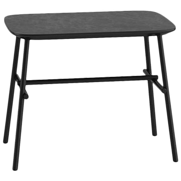 Tacchini Kelly O Table in Grey Top with Metal Base by Claesson Koivisto Rune