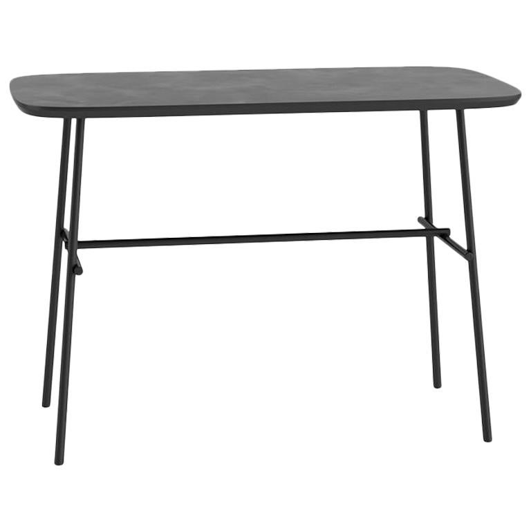 Tacchini Kelly W Work Table in Grey Top & Metal Base by Claesson Koivisto Rune