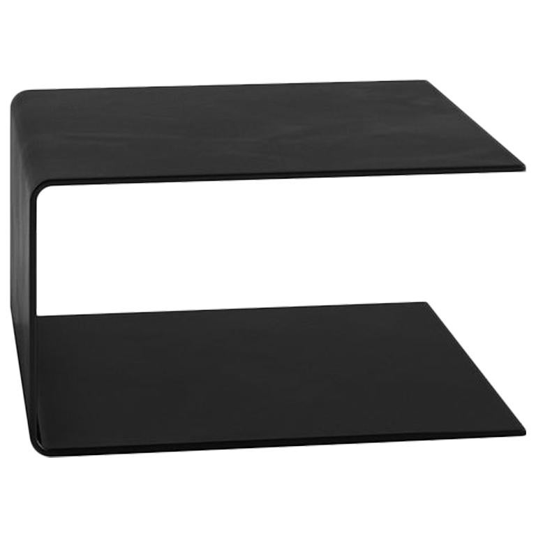 Tacchini Labanca Coffee Table in Black Painted Glass by Lievore Altherr Molina
