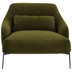Tacchini Lima Armchair in Bopha Fabric with Metal Base by Claesson Koivisto Rune