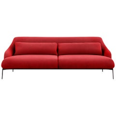 Tacchini Lima Two-Seater Sofa in Red Fabic by Claesson Koivisto Rune