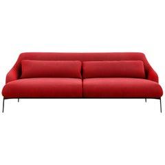 Tacchini Lima Two-Seater Sofa in Red Fabic by Claesson Koivisto Rune
