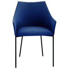 Tacchini Mayfair Chair in Blue Calantha Fabric by Christophe Pillet