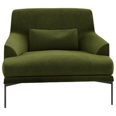 Tacchini Montevideo Armchair in Green with Cushion by Claesson Koivisto Rune