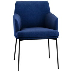 Tacchini Montevideo Chair in Blue Calantha Fabric by Claesson Koivisto Rune