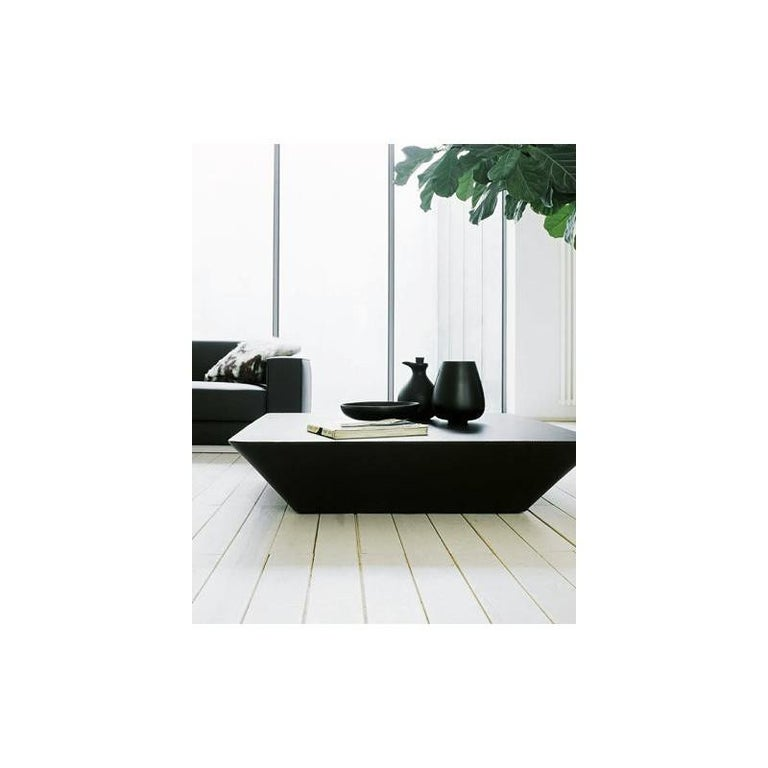 Tacchini Nara Leather Coffee Table Designed by Lievore Altherr Molina For Sale 2