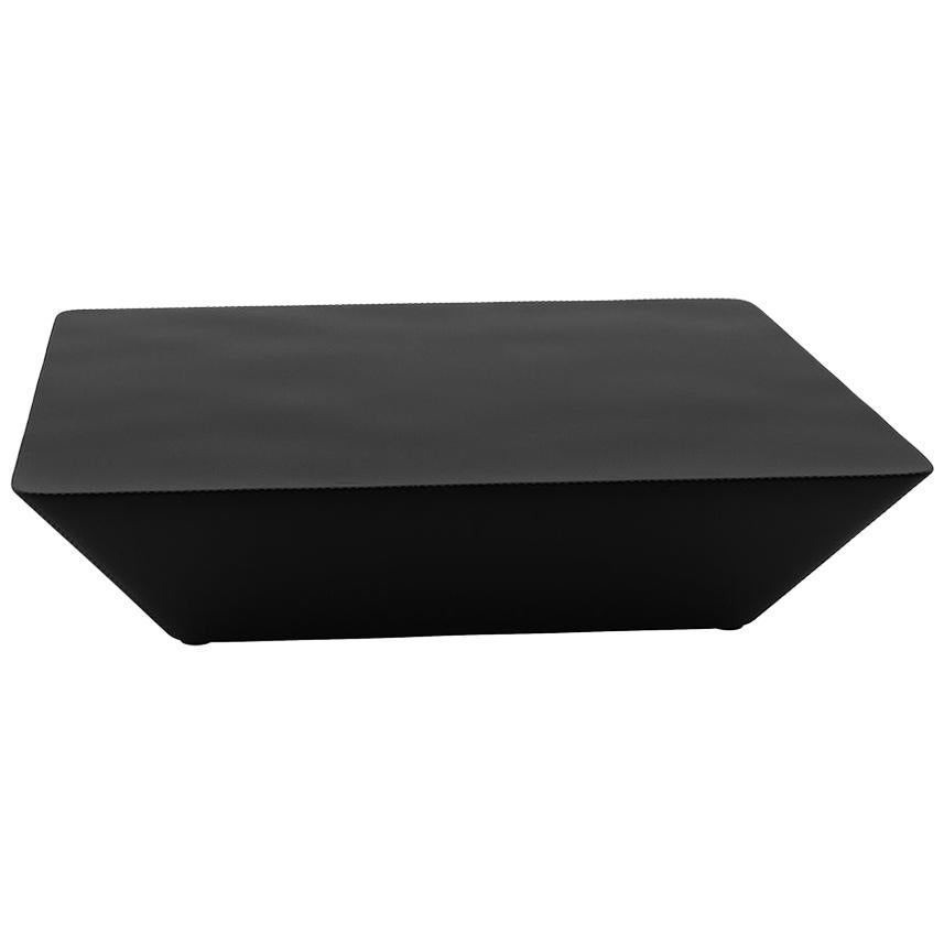 Tacchini Nara Small Coffee Table in Black Leather by Lievore Altherr Molina