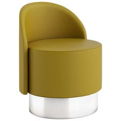 Tacchini Pastilles Armchair in Yellow Bryony Fabric by Studiopepe