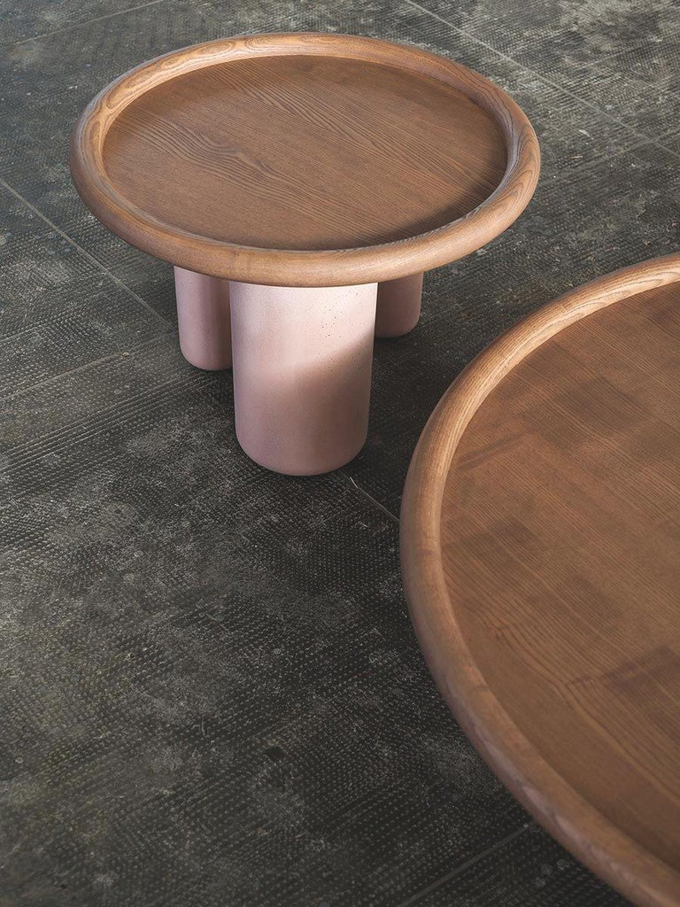 Tacchini Pluto Wood Side Table Designed by Studiopepe For Sale 2