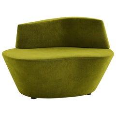 Tacchini Polar Armchair in Green Bryony Fabric by Pearson Lloyd