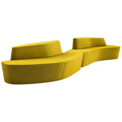 Tacchini Polar Modular Sofa System in Yellow Bryony Fabric by Pearson Lloyd