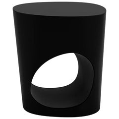 Tacchini Polar Table in Matte Black Painted Metal by Pearson Lloyd