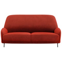 Tacchini Santiago Two-Seater Sofa in Red Fabric by Claesson Koivisto Rune