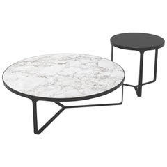Tacchini Set of Cage Tables in Marble Designed Gordon Guillaumier