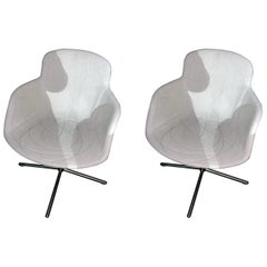 Tacchini Set of Two Doodle Armchairs on x-base designed by Claesson Koivisto Ru