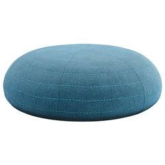 Tacchini Spin Ottoman in Blue Delphinum Fabric by Claesson Koivisto Rune