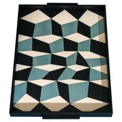Tacchini Tarsia Three Color Tray Designed by Maria Gabriella Zecca