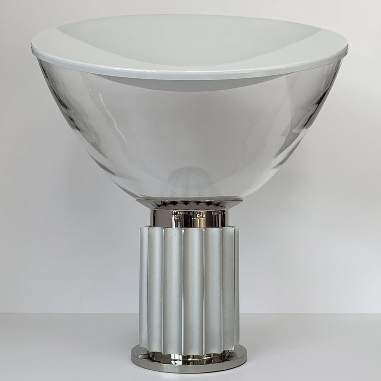 Metal Taccia Lamp by Pier Giacomo and Achille Castiglioni for Flos For Sale