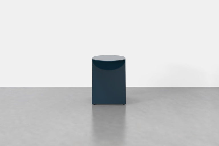 The tack stool is more than it seems, use it as an end table, side table, pedestal, or as a sculptural feature for that new plant you brought home. The Tack Stool is made from powder-coated aluminum in a palette of vibrant tones.