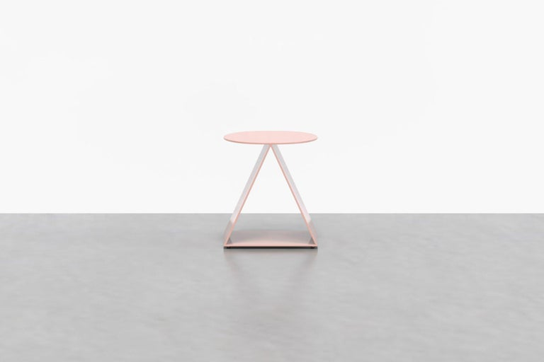 The Tack stool is more than it seems--use it as an end table, side table, pedestal, or as a sculptural feature for that new plant you brought home. The Tack Stool is made from powder-coated aluminum in a palette of vibrant tones.